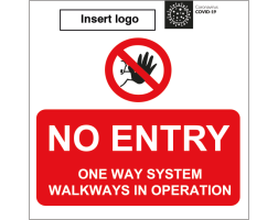 No Entry - One Way System in Operation Sign