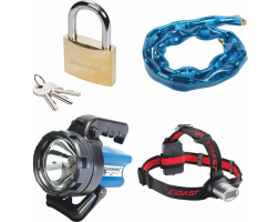 Padlock, Chain & Torches